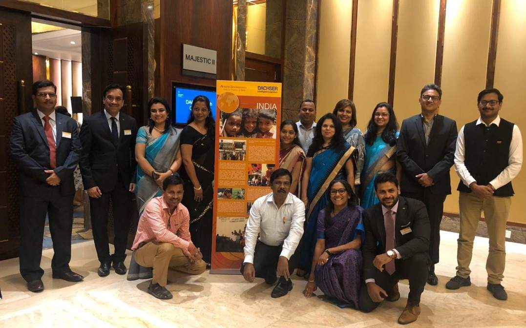Team DACHSER and terre des hommes together during the CSR event in Pune.